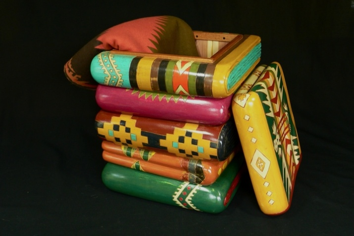 Cedar lined chest inspiures by Pendleton blankets. Dimensions 20'' x 15'' x 15''